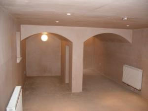 Basement fitted with an air gap membrane