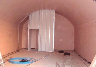 A basement that has been fitted with a waterproof membrane or 'tanked'
